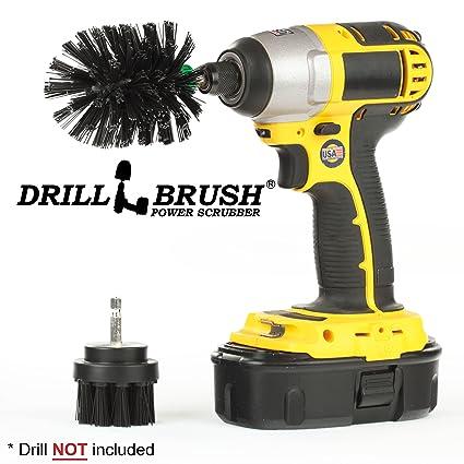 Drillbrush 2 piezas de tamaño mini Black Ultra Stiff es rotatorio de limpieza utilizados para la