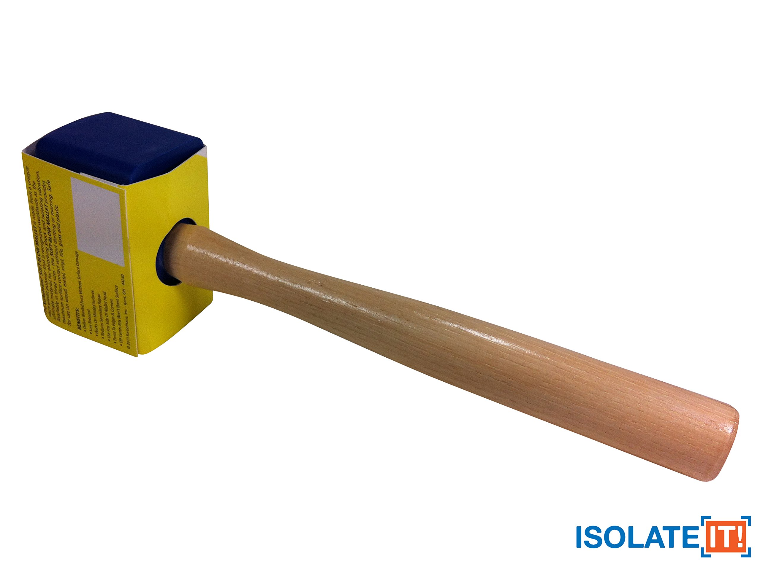 Isolate It!: Sorbothane Soft-blow Mallet for Automotive, Cabinetry, Carpentry and Glass Work - Small 5.5oz by Isolate It! (Image #2)