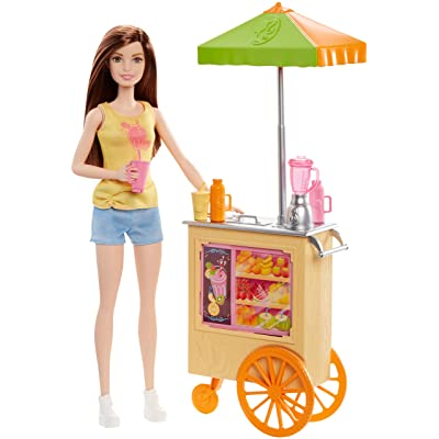 Barbie Careers Smoothie Chef Playset with Brunette Doll: Toys & Games