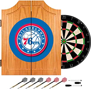 NBA Philadelphia 76ers Wood Dart Cabinet Set