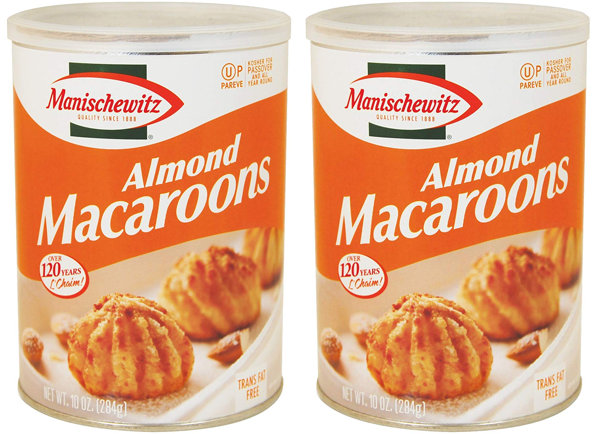 Manischewitz Macaroon Almond, Kosher For Passover, 10 Ounce Canister (Pack of 2, Total of 20 Oz) by Manischewitz