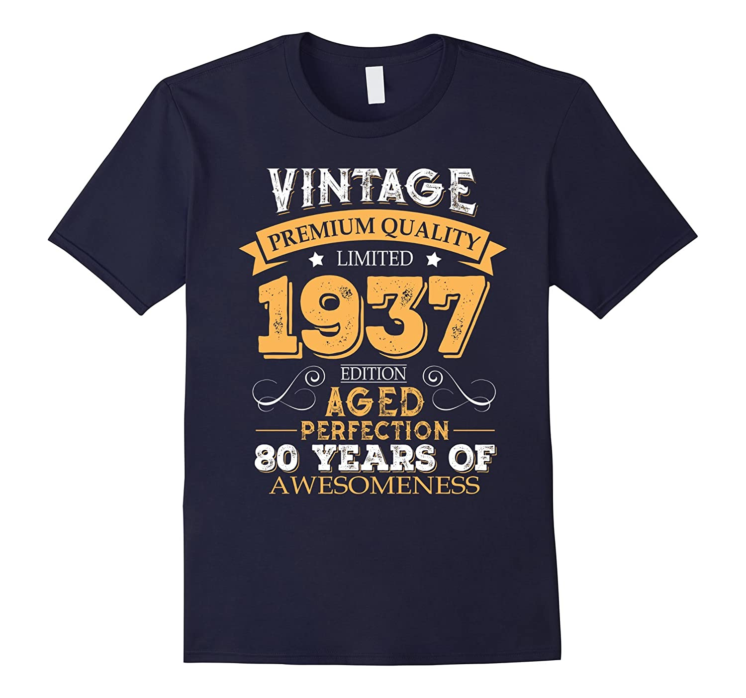 Vintage Born In 1937 80th Birthday T Shirt 80 Years Old Teevkd
