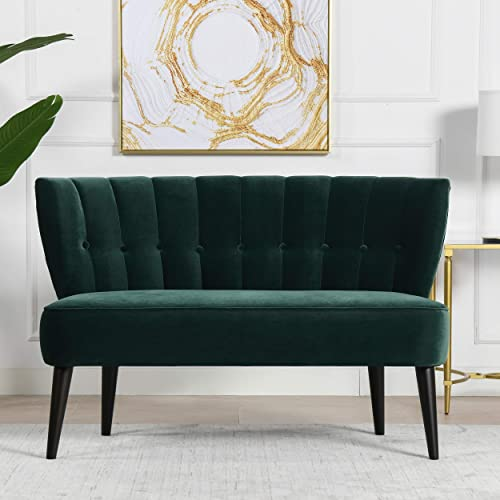 Jennifer Taylor Home Becca Channeled Tufted Settee - the best living room sofa for the money