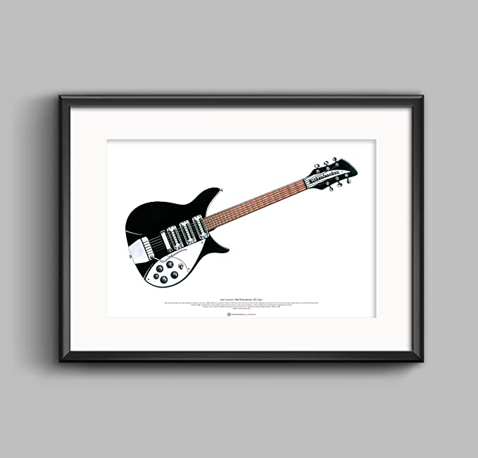 George Morgan Illustration 1964 Rickenbacker 325 Capri Guitarra ...