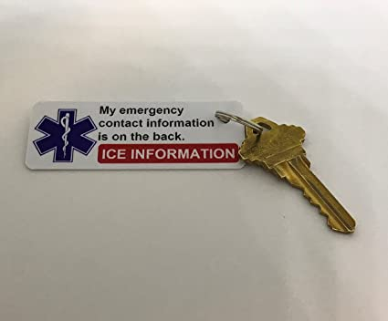 90618fdc3 Amazon.com : in Case of Emergency Key Tags Emergency Contact ICE ...