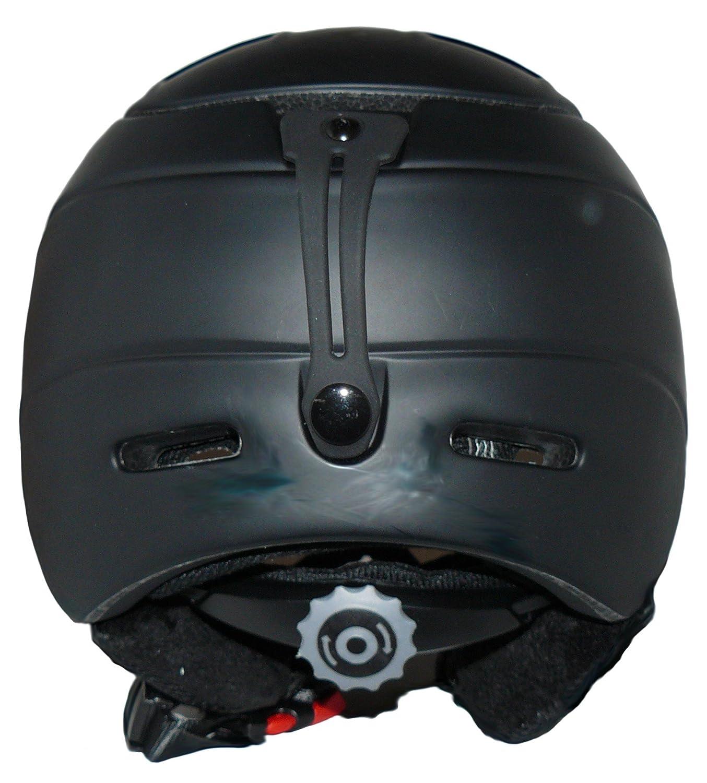 protectWEAR Casco de esqu/í MS95 negro mate con dos viseras plegables M