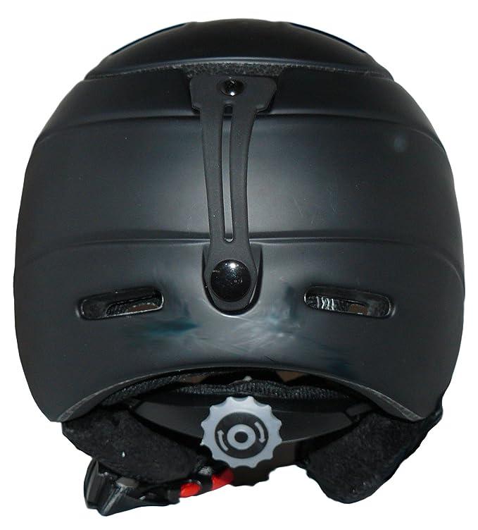 protectWEAR - Casco de esquí MS95 negro mate con dos viseras plegables - XL: Amazon.es: Coche y moto