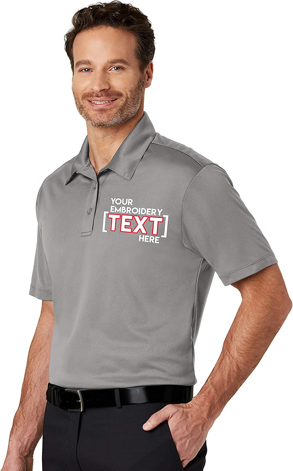 Custom Embroidered Shirts for Men /& Women Personalized Embroidery Polyester Polos