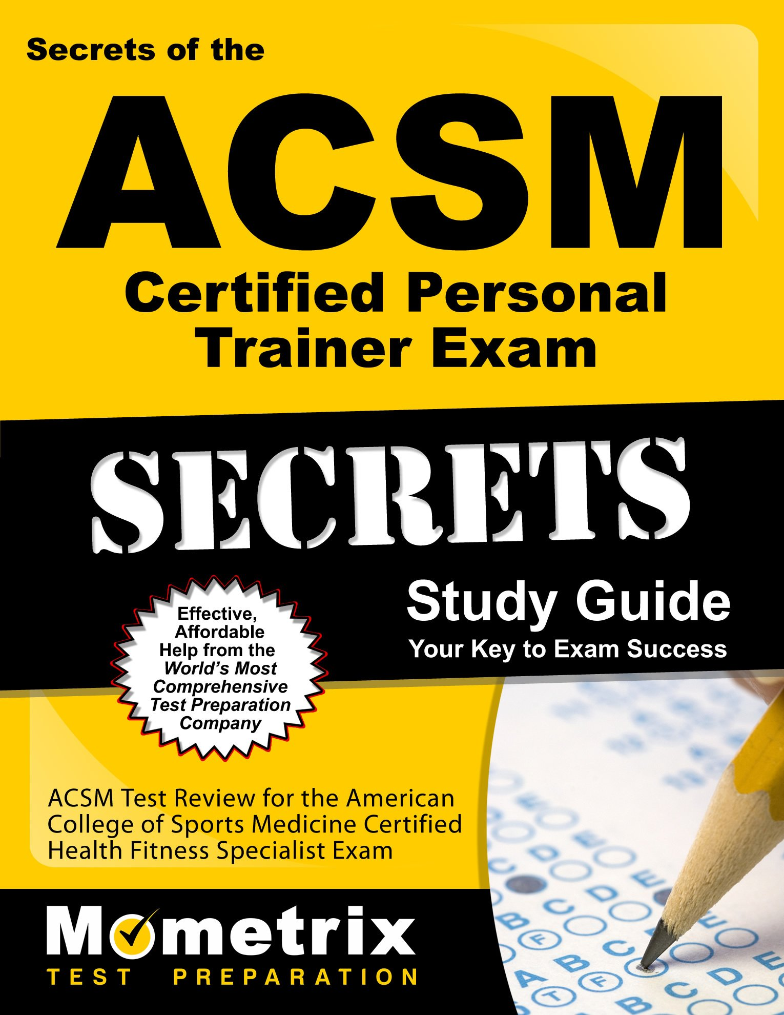 Buy Secrets Of The Acsm Personal Trainer Exam Acsm Test Review For