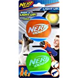 """Nerf Dog 2.5"""" LED TPR Balls 2pk, suitable for the Tennis Ball Blasters"""