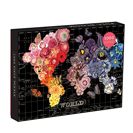 Amazon galison 1000 piece full bloom world map puzzle galison 1000 piece full bloom world map puzzle gumiabroncs Gallery