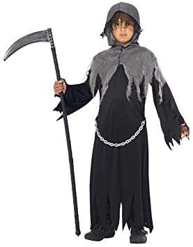 Smiffys Smiffys-35987M Halloween Disfraz de La Muerte, con Capa y ...