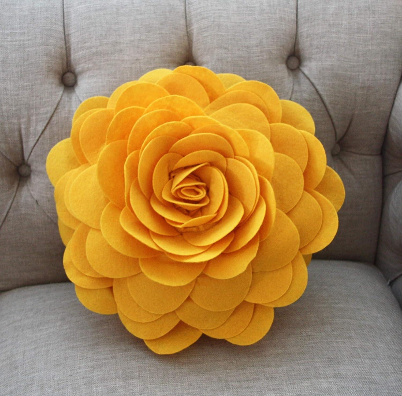 Amazon.com: Almohadas decorativas – Almohada de rosas 3D ...