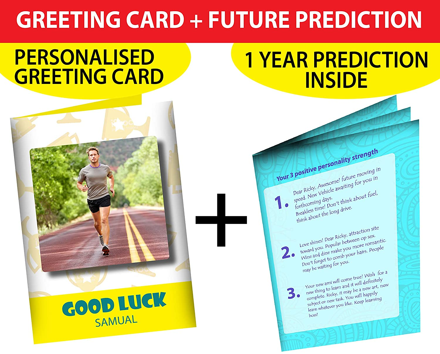 Good Luck Greeting Card with Astrology Prediction | Personalised