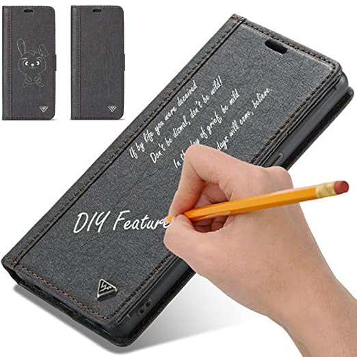 new arrivals 17802 a986c Amazon.com: iPhone X,8,7 Case,Water-Proof Kraft Paper Leather Case ...