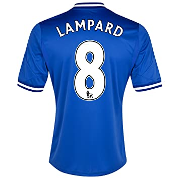 Chelsea Home 2013/14 Jersey (Official Adidas) with Lampard 8 - Size X