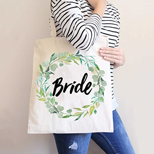 Bridesmaids Gift Bags | Amazon Com Greenery Floral Wreath Wedding Tote Bags For Bride And