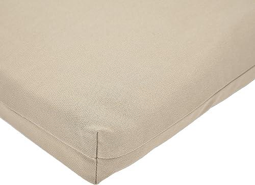AmazonBasics Outdoor Lounger Patio Cushion – Khaki