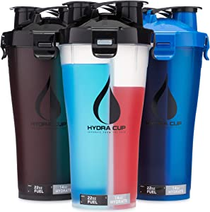 Hydra Cup - 3 Pack High Performance Dual Shaker Bottle, 36oz Patented PRE + Protein Shaker Cup, Leak Proof, Awesome Colors, Save Time & Be Prepared.