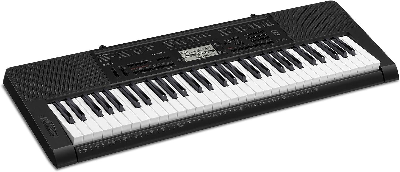 CASIO CTK3200 - Teclado electrónico (61 teclas,), color negro