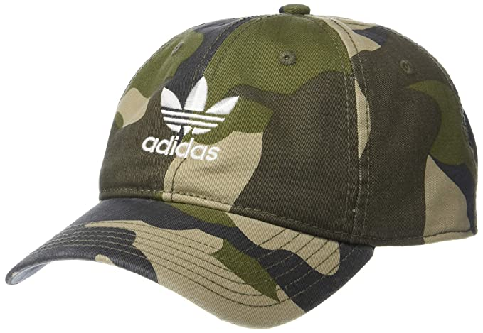 491f6b0b adidas Men's Originals Relaxed Strapback Cap, Aop Camo Olive Cargo/White,  One Size