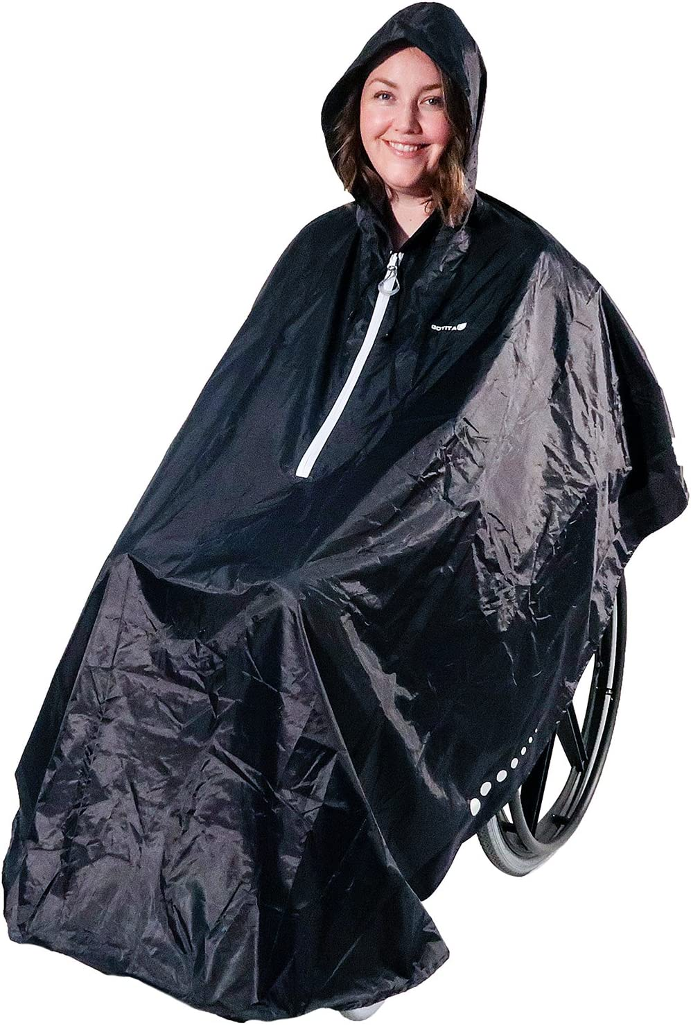 GOTITA – Poncho Impermeable para Silla de Ruedas – Chubasquero Universal – Capa de Lluvia para Silla de Ruedas fácil de Usar. Poncho de diseño Italiano