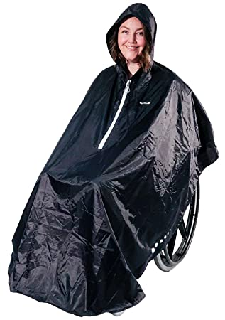 GOTITA – Poncho Impermeable para Silla de Ruedas – Chubasquero Universal – Capa de Lluvia para