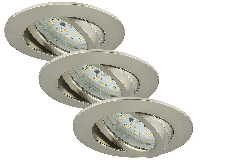 Briloner Leuchten 7209-032 LED Einbauleuchten 3er Set ...