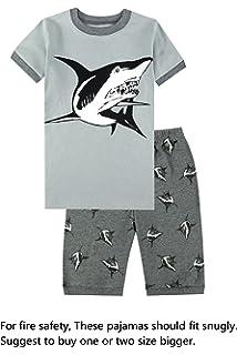 Boys Pajamas Little Kids Shorts Set 100% Cotton Sleepwear Toddler Pjs