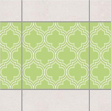 Pattern Design GmbH Frise de carrelage rétro Vert Printemps ...