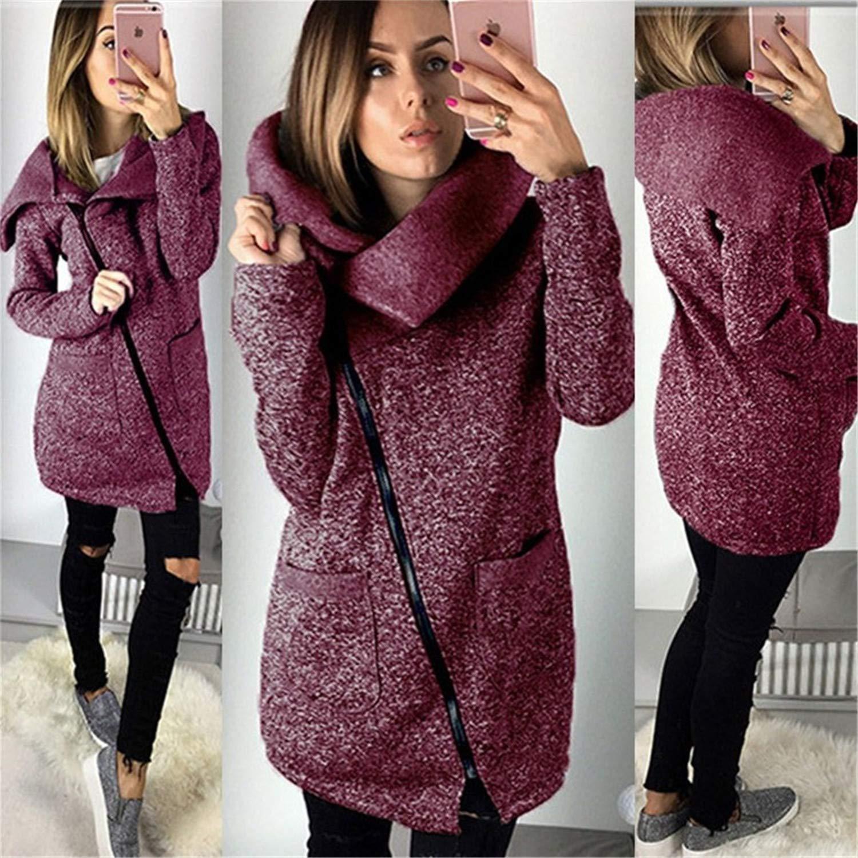 2018 Women Spring Winter Fleece Sweatshirt Hoodie Long Zipper Hoodies Jacket Coat Outwear Plus Size 5XL Sudaderas para Mujer Red M at Amazon Womens ...