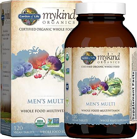 Garden of Life Multivitamin for Men - mykind Organic Men's Whole Food Vitamin Supplement, Vegan, 120 Tablets - Packaging May Vary