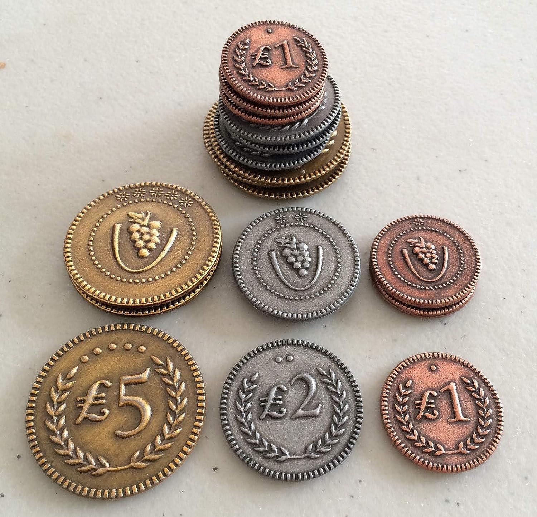 Viticulture Metal Coins: Amazon.es: Juguetes y juegos