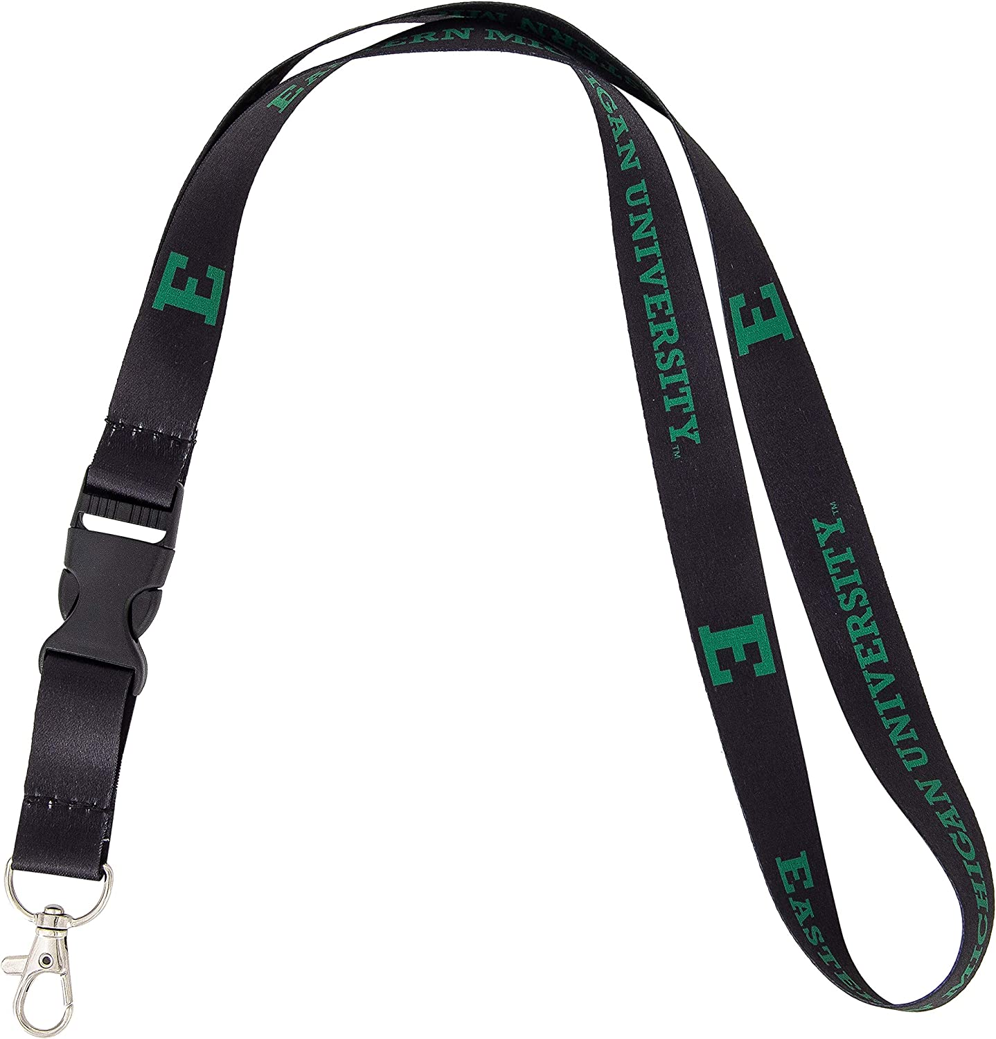 Eastern Michigan University EMU Eagles NCAA Car Keys ID Badge Holder Lanyard Keychain Detachable Breakaway Snap Buckle