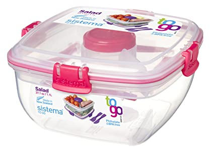 Sistema To Go Collection Salad to Go Food Storage Container