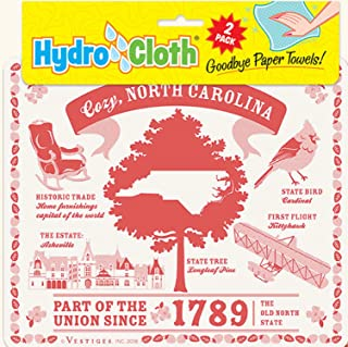 product image for Fiddler's Elbow Cozy, North Carolina Hydro Cloths | Eco-Friendly Sponge Cloths | Reusable Sponge Cloths | Set of 2 Printed Swedish Dishcloths | Replaces 30 Rolls of Paper Towels