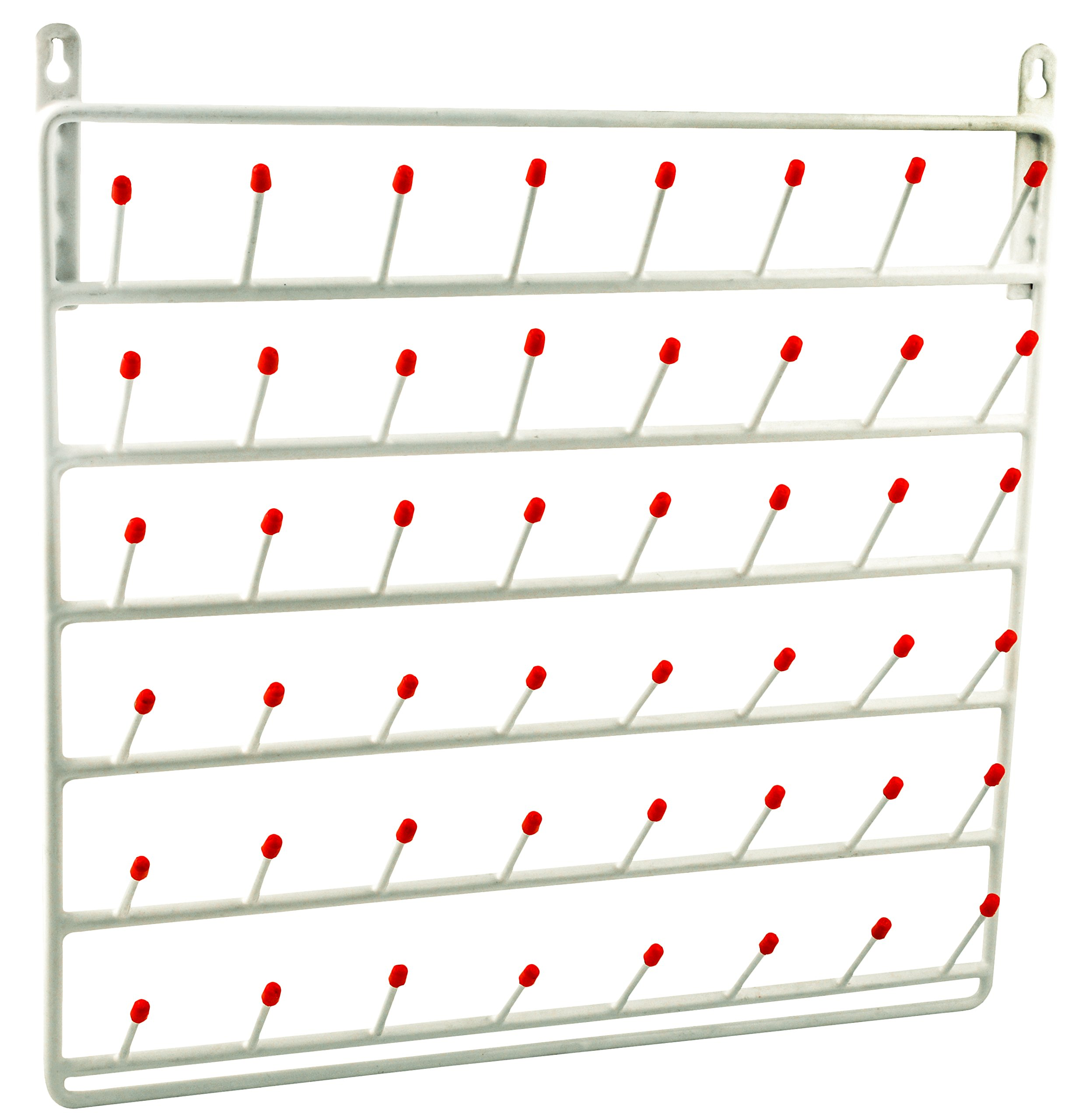 Draining Rack, 48 Pegs (2.75 Inch Pegs) - Wall Mountable, Vinyl Coated Steel - for Labware - Eisco Labs by EISCO