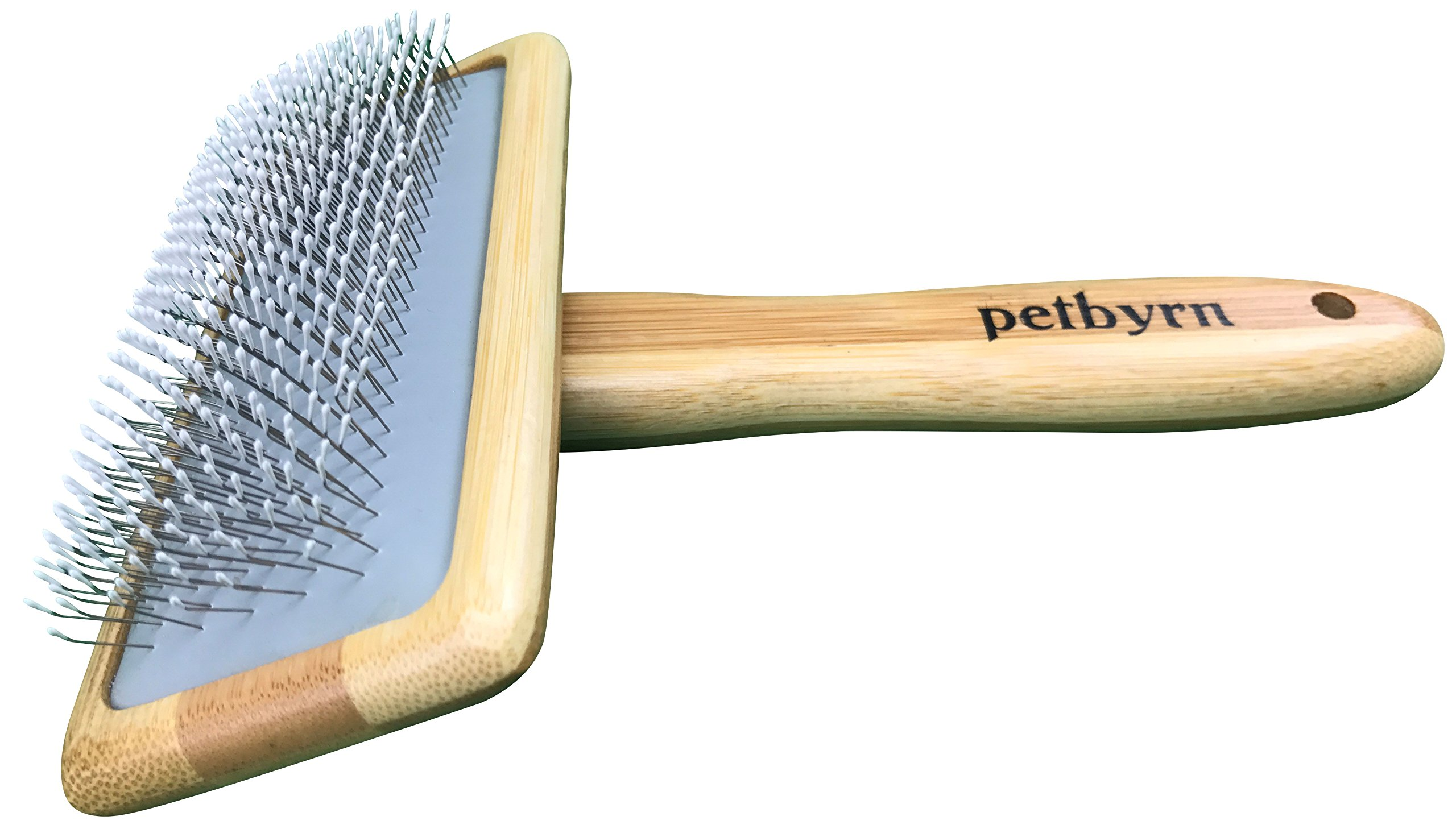 Petbyrn Slicker Dog Cat Grooming Brush - NO.1 For Deshedding Detangling and Dematting Small, Medium and Large Short to Long Hair Pets. Cut Shedding, Massage and Stimulate Healthy Coats by