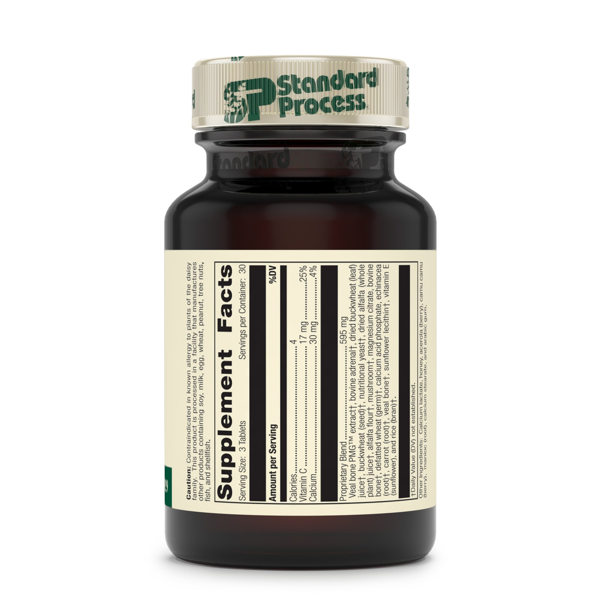 Standard Process - Cataplex C - Immune System Response Supplement, 17 mg Vitamin C, 30 mg Calcium, Supports Bone Health, Antioxidant Activity, Natural Collagen-Synthesis - 90 Tablets by Standard Process (Image #3)