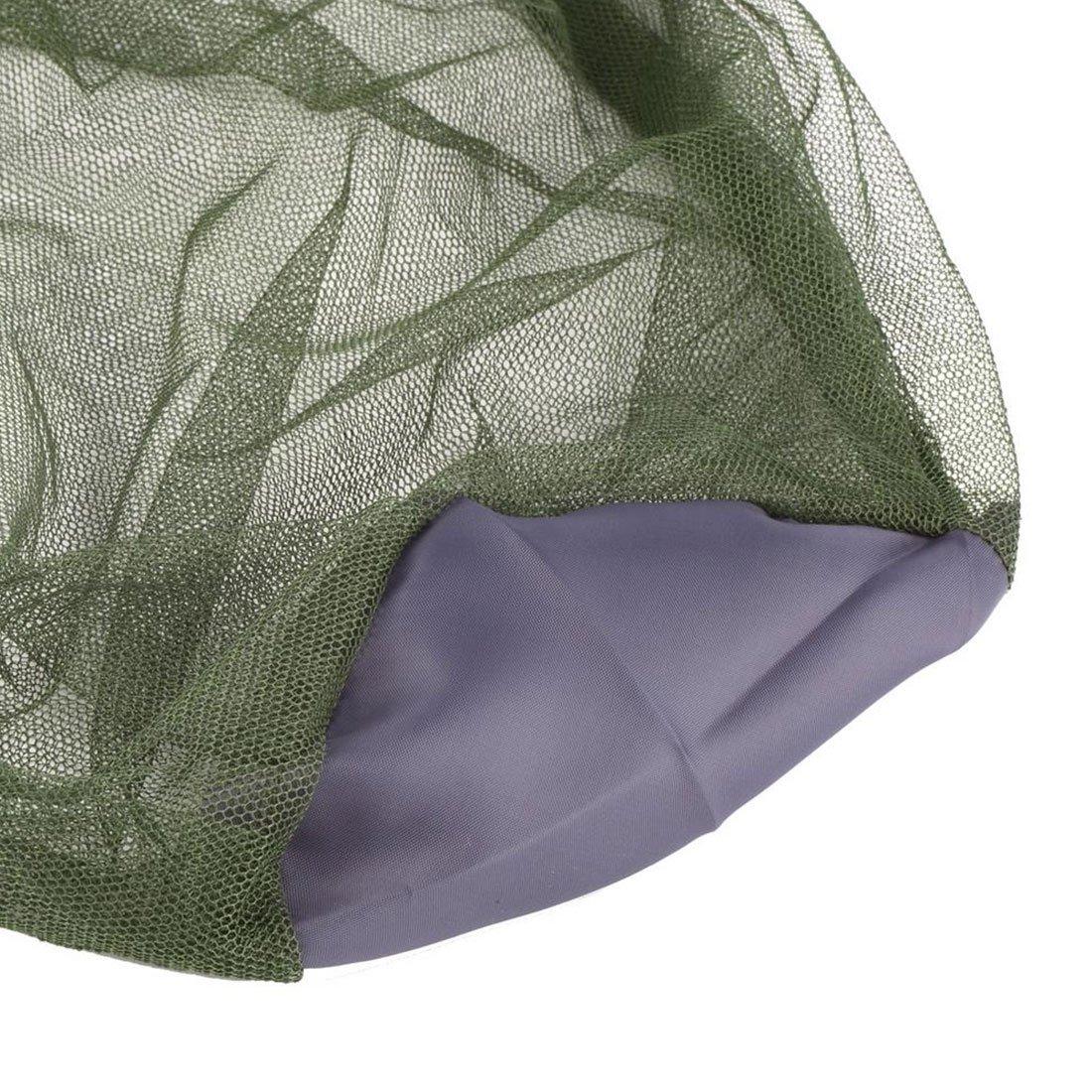 Equipo de Campamento Anti-Midge Mosquito Insecto Sombrero Malla de Malla Cabeza Red Protector de Cara para Viajes al Aire Libre Camping
