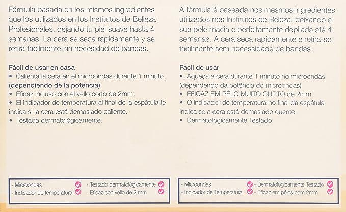 Veet Tarro Cera Depilatoria Tibia Profesional con Cera Natural de ...