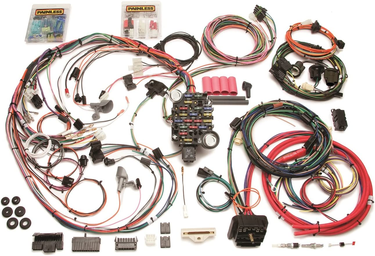i just installed a painless wiring harness along with amazon com painless performance 20129 direct fit chassi harness  painless performance 20129 direct fit