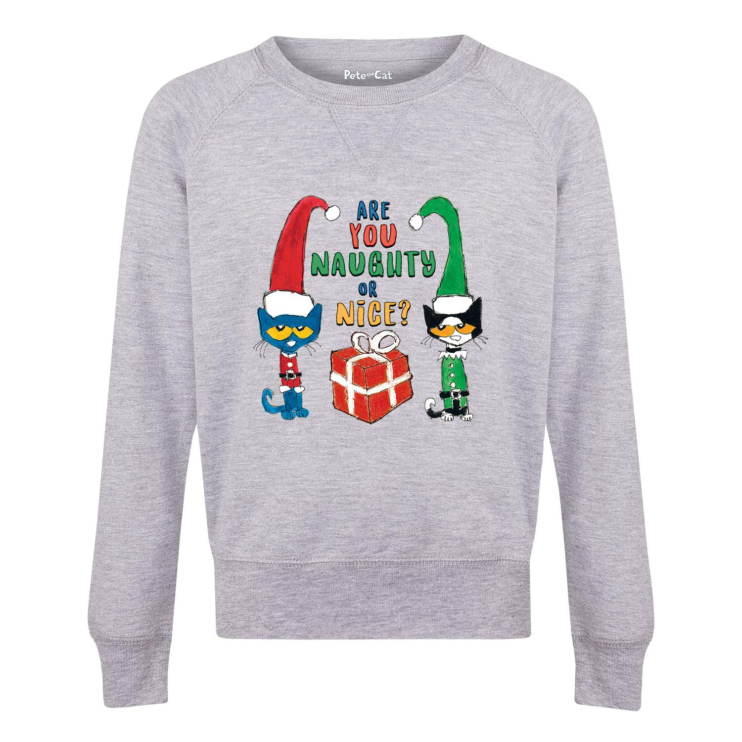 Pete the Cat PTC Naughty Or Nice Youth Girls Slouchy Ft