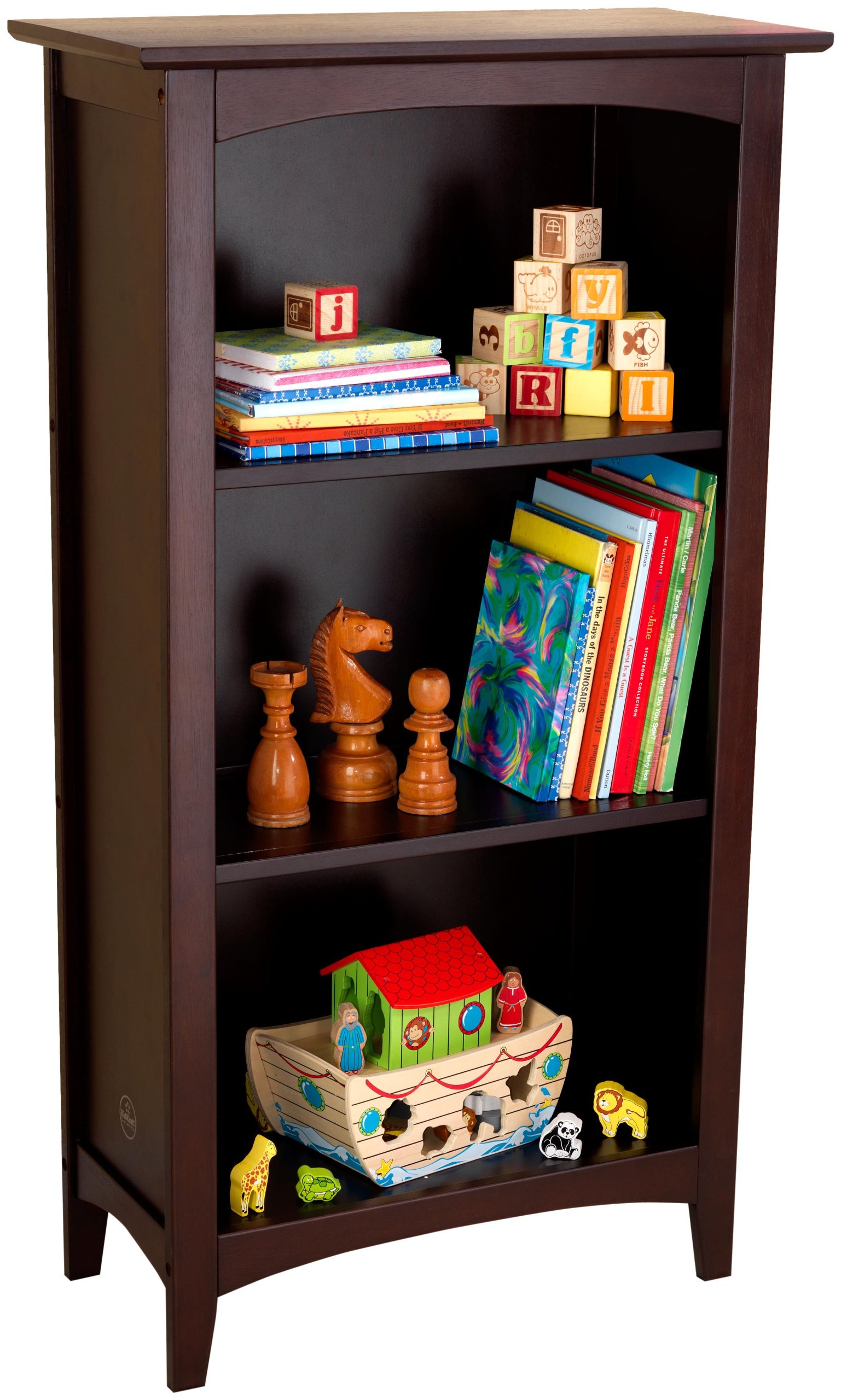KidKraft Avalon Three-Shelf Bookcase - Espresso by KidKraft