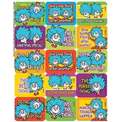 Eureka Dr. Seuss Thing 1 and 2 Success Stickers: Toys & Games