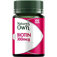Nature's Own Biotin 300mcg - Strengthens Nails - Catalyses Fat, Cholesterol and Amino Acid Metabolism 300mcg