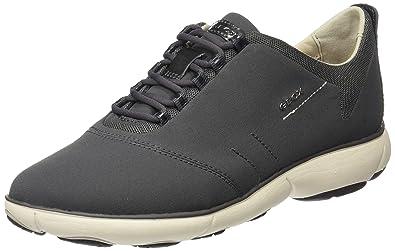 Geox d nebula c scarpe da ginnastica basse donna amazon shoes grigio sintetico