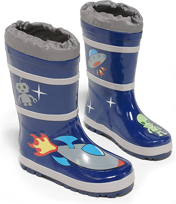 Size 9 Solid Rubber Rainboots Blue i play