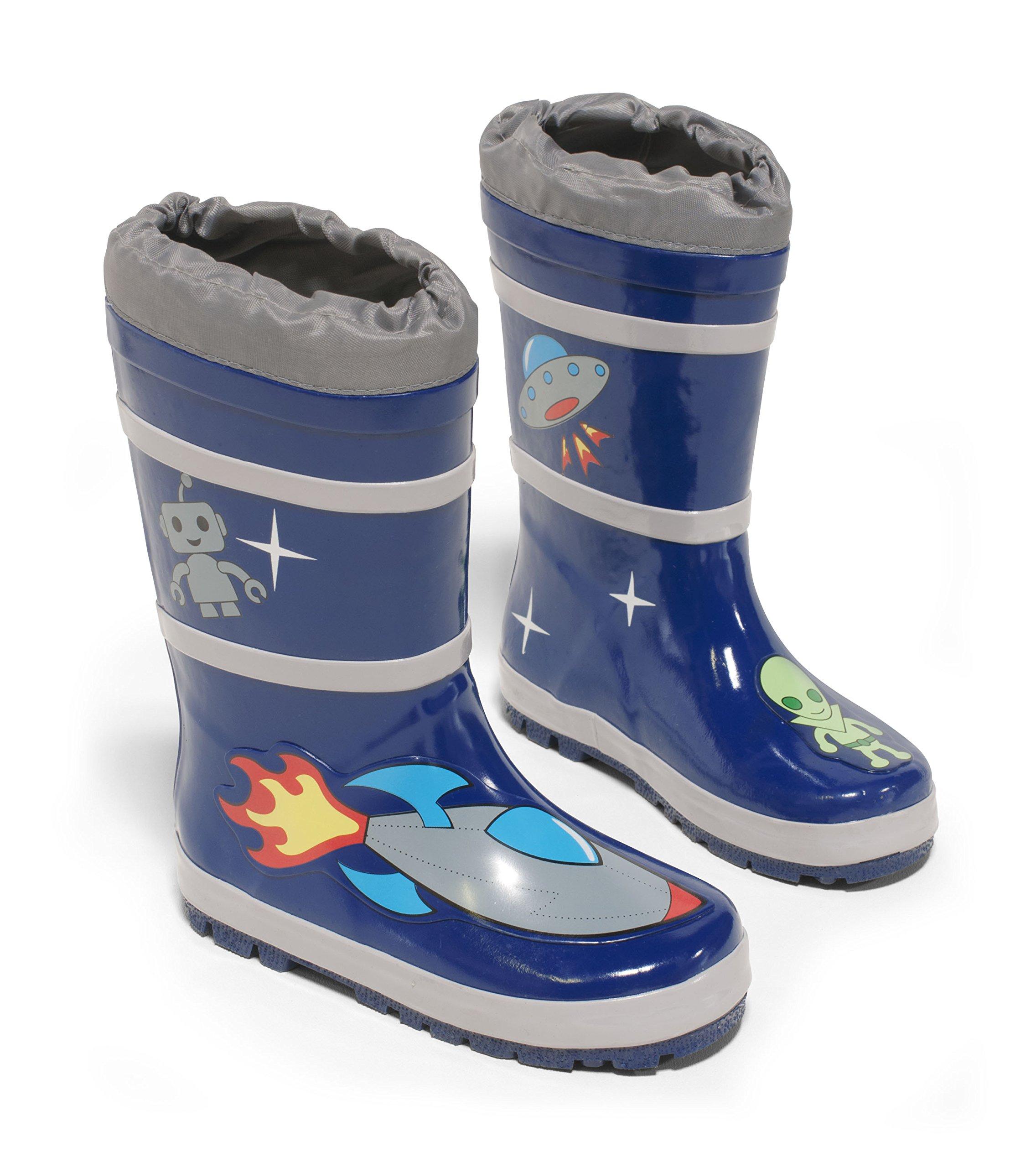 Kidorable Space Hero Rain Boots, Blue, Size 2