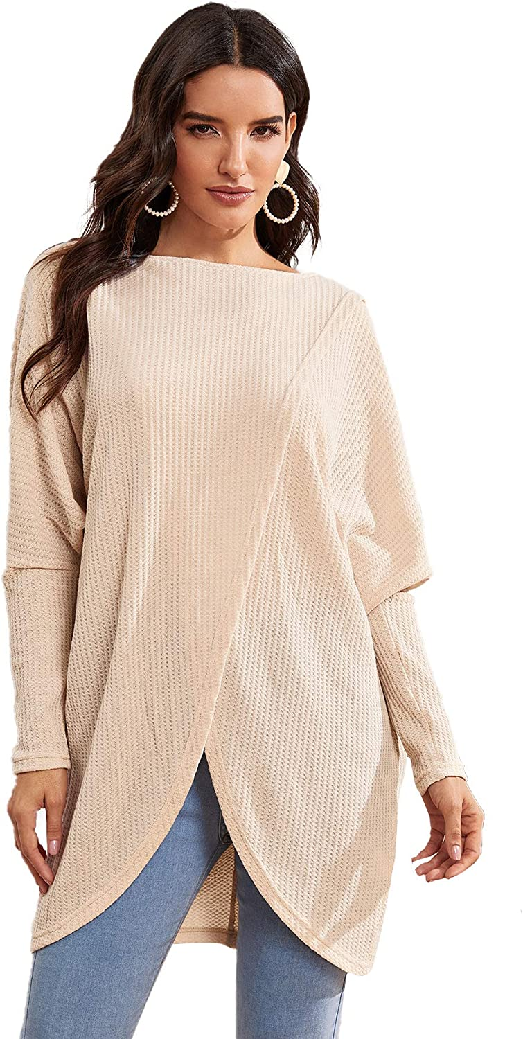 Fubotevic Womens Cable Knit Long Sleeve Jumper Casual V Neck Sweater Top